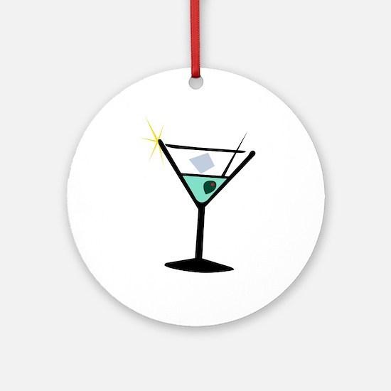 Martini Glass 3 Ornament (Round)