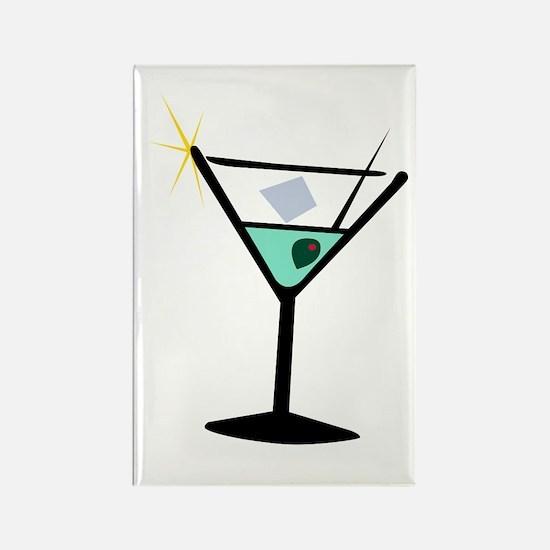 Martini Glass 3 Rectangle Magnet