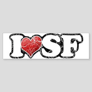 Vintage I Heart SF Bumper Sticker