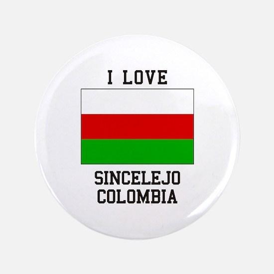 I Love Sincelejo Colombia Button
