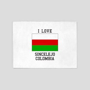 I Love Sincelejo Colombia 5'x7'Area Rug