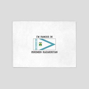 Famous In Oskemen Kazakhstan 5'x7'Area Rug
