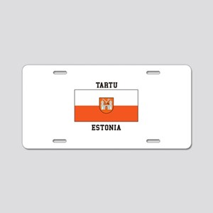 Tartu, Estonia Flag Aluminum License Plate