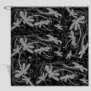 Dragonfly Night Flit Shower Curtain