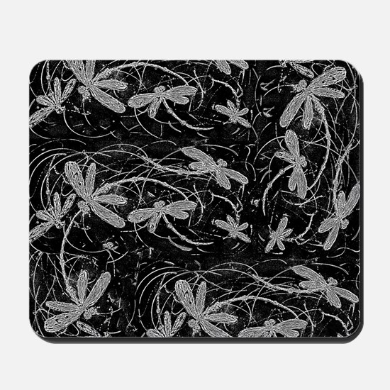 Dragonfly Night Flit Mousepad