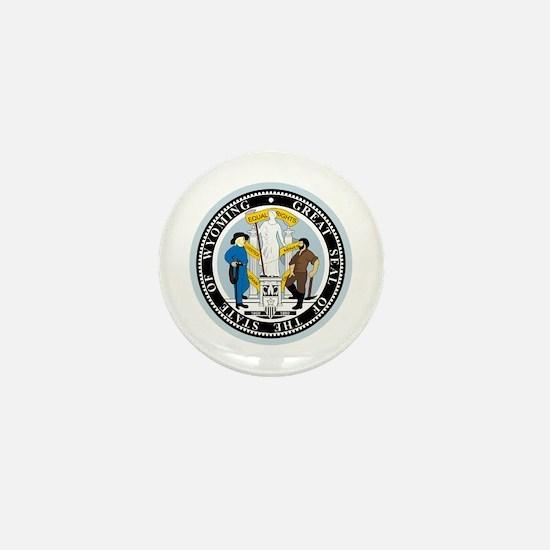 Wyoming State Seal Mini Button