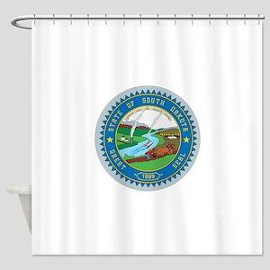South Dakota Seal Shower Curtain