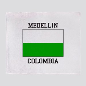 Medellin Colombia Throw Blanket