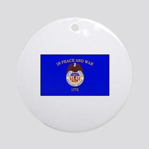 Merchant Marine Flag Ornament (Round)