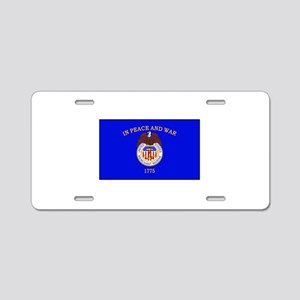 Merchant Marine Flag Aluminum License Plate