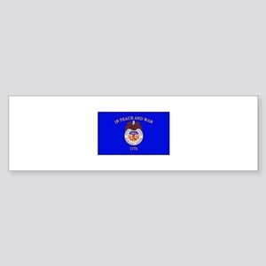 Merchant Marine Flag Bumper Sticker