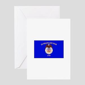 Merchant Marine Flag Greeting Cards