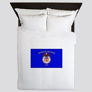 Merchant Marine Flag Queen Duvet