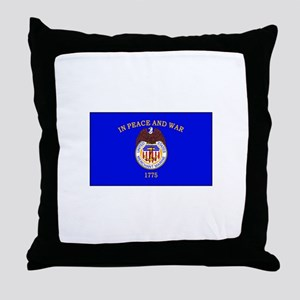 Merchant Marine Flag Throw Pillow
