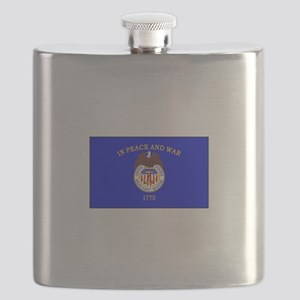 Merchant Marine Flag Flask