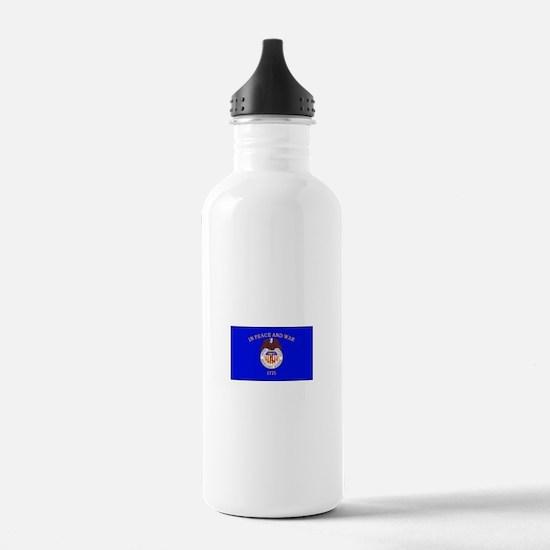 Merchant Marine Flag Water Bottle
