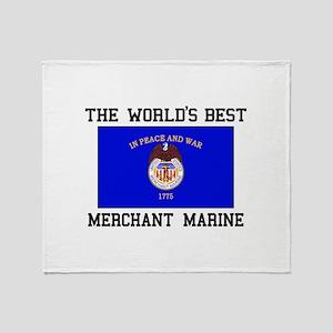 Best Merchant Marine Throw Blanket