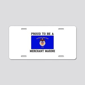 Proud to be a Merchant Marine Aluminum License Pla