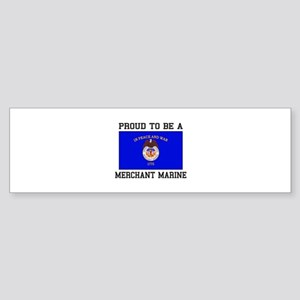 Proud to be a Merchant Marine Bumper Sticker