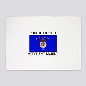 Proud to be a Merchant Marine 5'x7'Area Rug