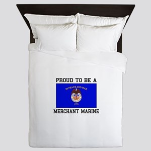 Proud to be a Merchant Marine Queen Duvet