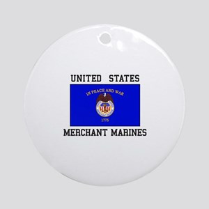 US Merchant Marine Ornament (Round)