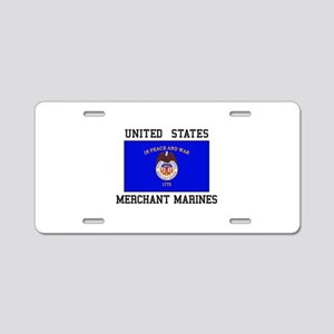 US Merchant Marine Aluminum License Plate
