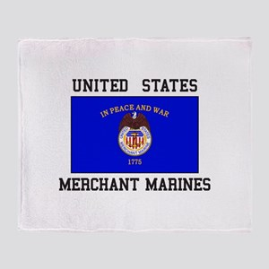 US Merchant Marine Throw Blanket