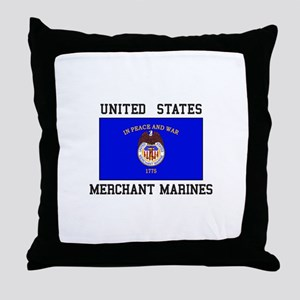 US Merchant Marine Throw Pillow