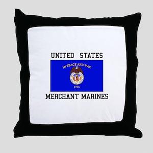 US Merchant Marine Throw Pillow