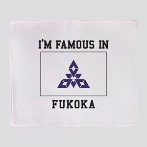 Famous In Fukoka Throw Blanket