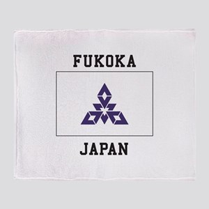 Fukoka Japan Throw Blanket