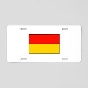 Wroclaw, Poland Flag Aluminum License Plate