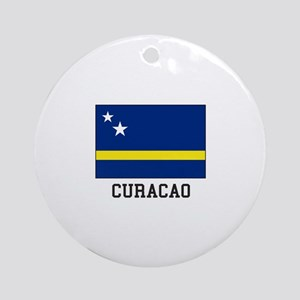 Curacao, Flag Ornament (Round)