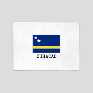 Curacao, Flag 5'x7'Area Rug