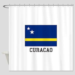 Curacao, Flag Shower Curtain