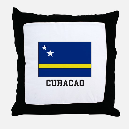 Curacao, Flag Throw Pillow