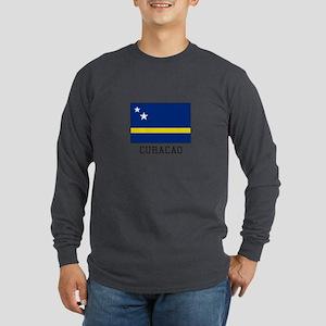 Curacao, Flag Long Sleeve T-Shirt