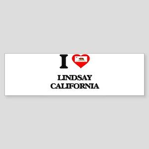 I love Lindsay California Bumper Sticker
