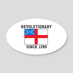 Revolutionary since 1789 Oval Car Magnet