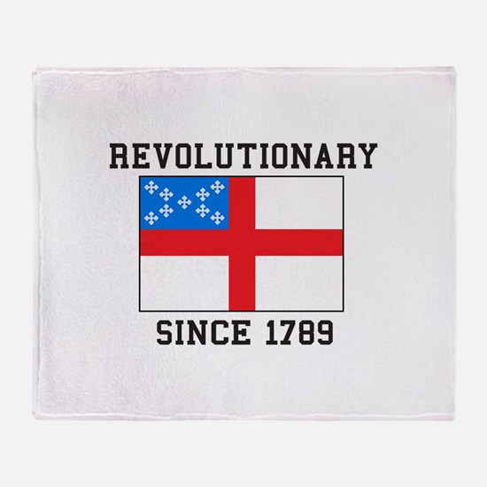 Revolutionary since 1789 Throw Blanket