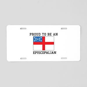 Proud be an Episcopal Flag Aluminum License Plate