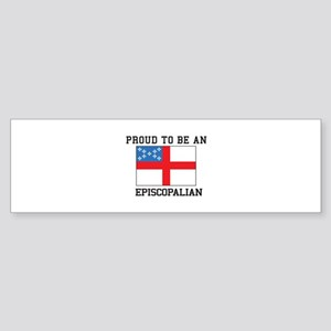 Proud be an Episcopal Flag Bumper Sticker