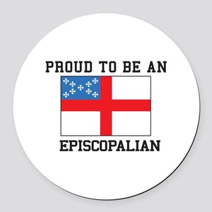 Proud be an Episcopal Flag Round Car Magnet
