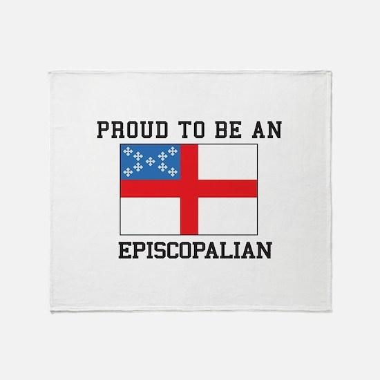 Proud be an Episcopal Flag Throw Blanket