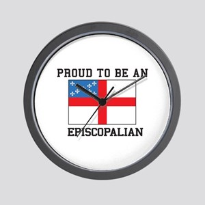 Proud be an Episcopal Flag Wall Clock