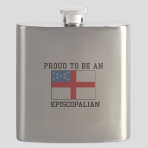 Proud be an Episcopal Flag Flask
