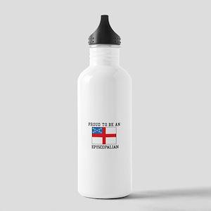 Proud be an Episcopal Flag Water Bottle