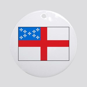 Episcopal Flag Ornament (Round)