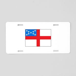 Episcopal Flag Aluminum License Plate